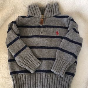 Polo Ralph Lauren half zip sweater 18 mos